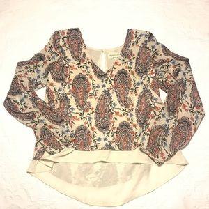 Abercrombie Chiffon Long Sleeve Shirt